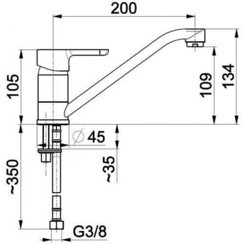 Смеситель для кухни KFA Armatura Granat 5523-915-00