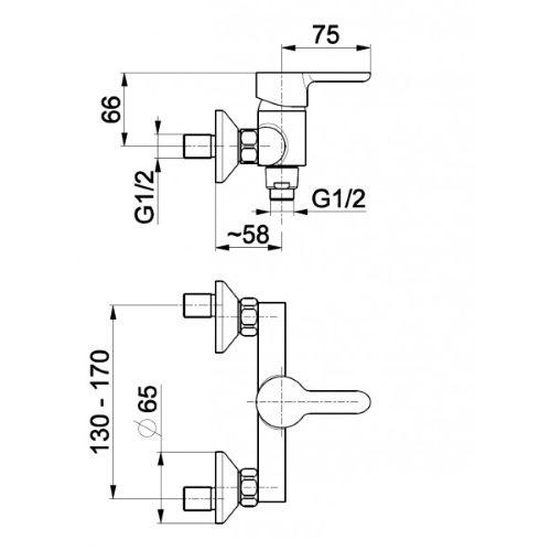 Смеситель для душа KFA Armatura Granat 5526-010-00