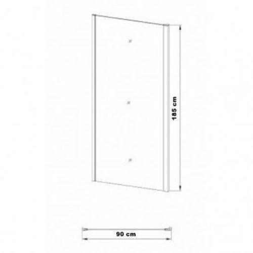 Боковая стенка Eger 90×185 см 599-153-90W