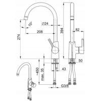 Смеситель для мойки KFA Armatura Angelit 6713-915-40