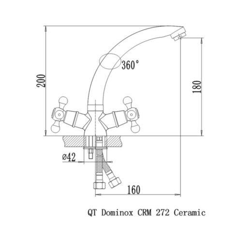 Смеситель для кухни Dominox-272 (Q-Tap)