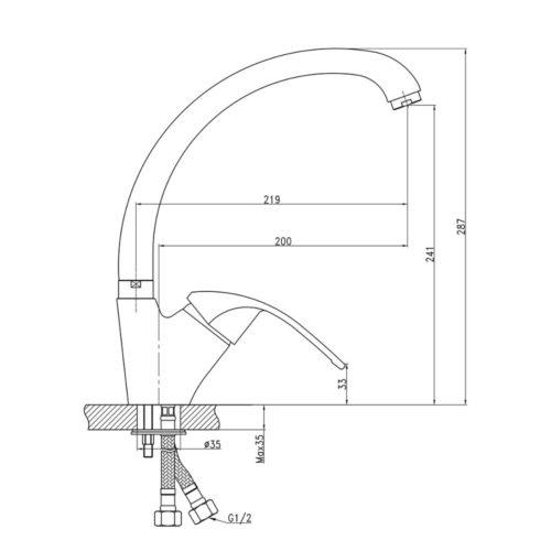Кухонный смеситель Q-tap Mars WHI-007 (глянец)
