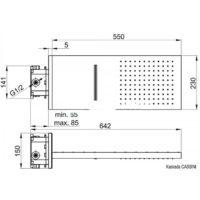 Смеситель скрытого монтажа KFA Armatura Сassini 842-811-00 хром + каскадная лейка на два потребителя