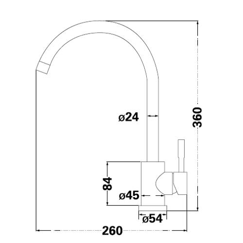 Смеситель для кухни Lambert Round LR3008B