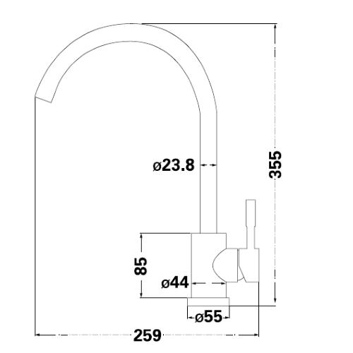 Смеситель для кухни Lambert Round LR3008SB