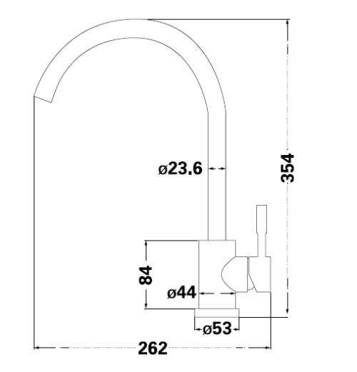 Смеситель для кухни Lambert Round LR3008SW