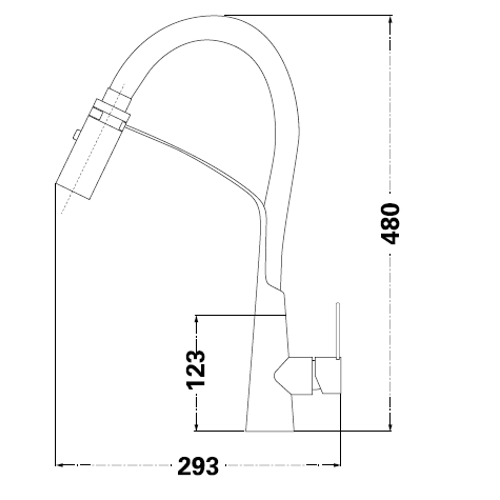 Смеситель для кухни Lambert Pull-Out LR3050