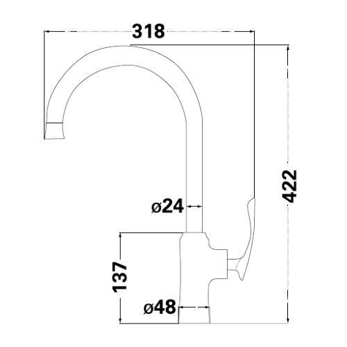 Смеситель для кухни Lambert Resling LR3063