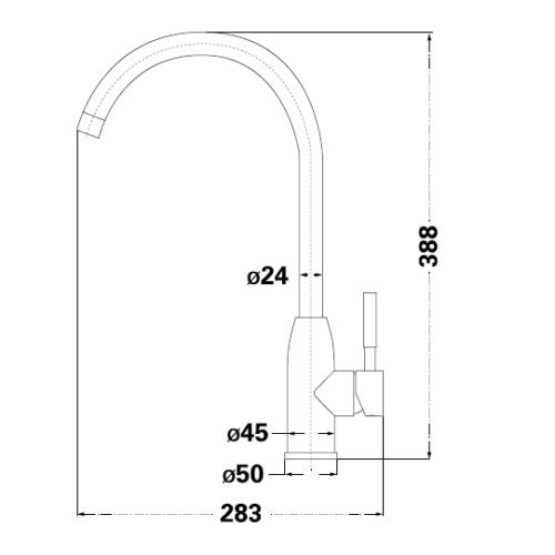 Смеситель для кухни Lambert Kit LR3067