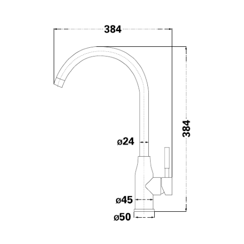 Смеситель для кухни Lambert Kit LR3068