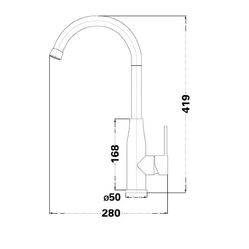 Смеситель для кухни Lambert Kit LR3099