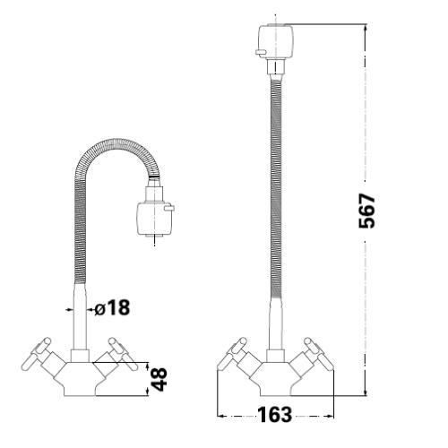 Смеситель для кухни Lambert Sauvignon LR3103A