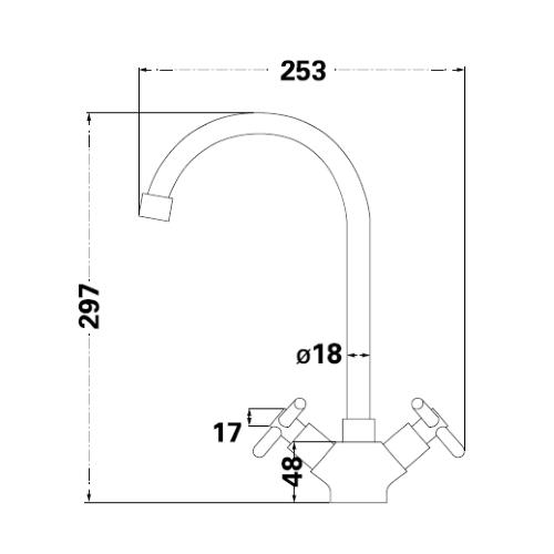 Смеситель для кухни Lambert Sauvignon LR3103C