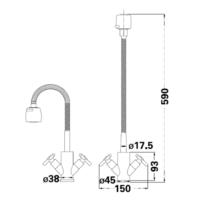 Смеситель для кухни Lambert Sauvignon LR3105C