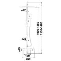 Душевая система Lambert Inox Fly LR6004
