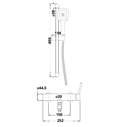 Душевая система Lambert Inox Fly LR7004B