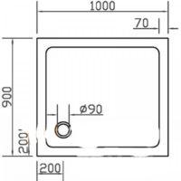 Панель для поддона Eger PAN-1090S