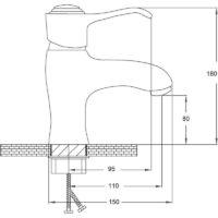 Смеситель для раковины POTATO P15-4 P1015-4