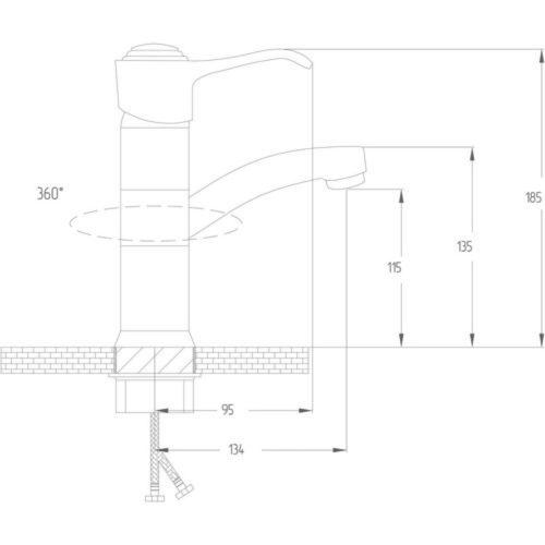 Кухонный смеситель POTATO P15-4 P4515-4