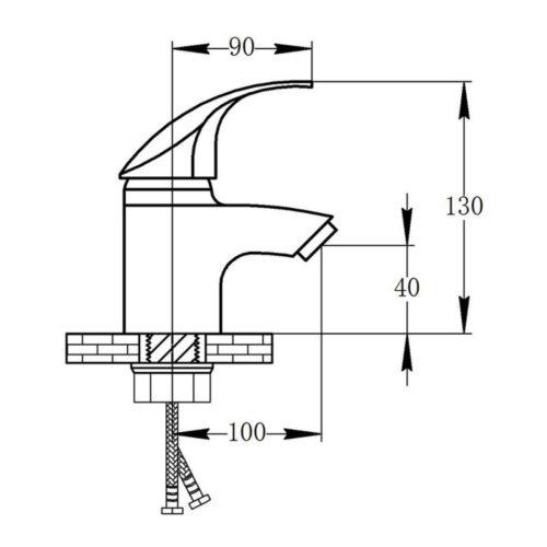 Смеситель для раковины POTATO P07 P1007