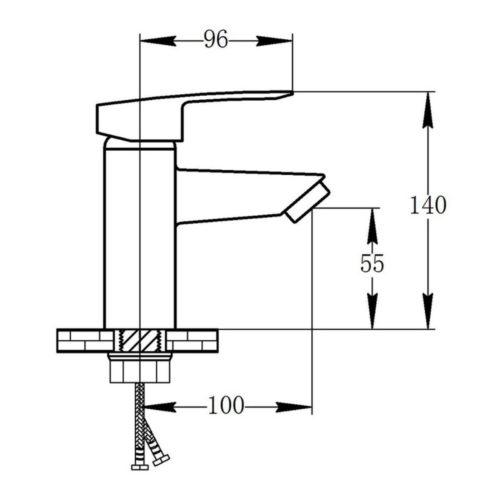 Смеситель для раковины POTATO P08 P1008