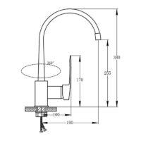 Кухонный смеситель POTATO P08 P4008
