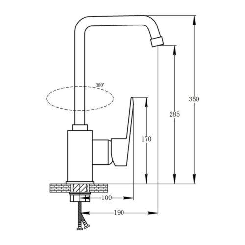 Кухонный смеситель POTATO P09 P4009