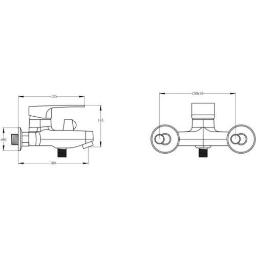 Смеситель для ванны POTATO P30-6 P3030-6