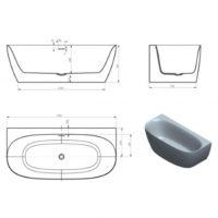 Ванна Volle 170×80 12-22-809M