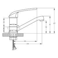 Кухонный смеситель POTATO P04 P4504-2
