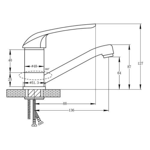 Кухонный смеситель POTATO P04 P4504
