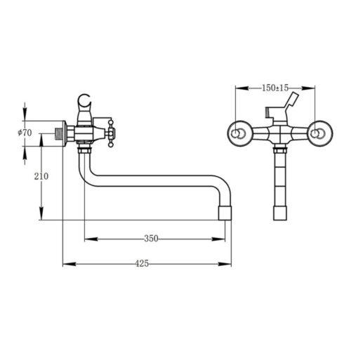 Смеситель для ванны POTATO P65 P2365