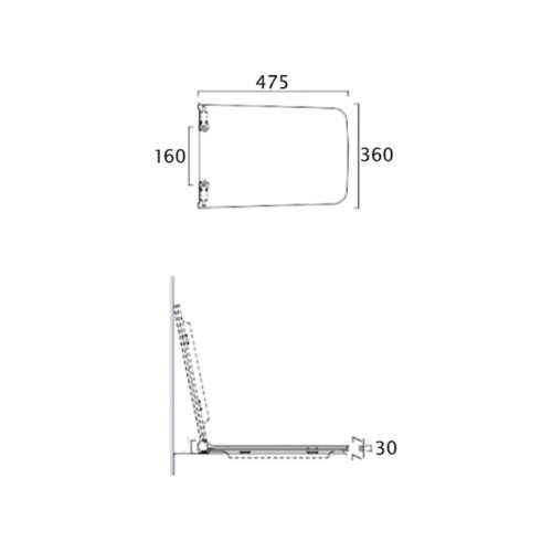 Унитаз+сидение+бачок со слевным механизмом Azzurra (Комплект) Tulip TUO100B1/MBP ONE 30688AZZURRA