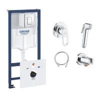 Комплект Grohe инсталляция Rapid SL 38827000 + набор для гигиенического душа со смесителем BauLoop 111042
