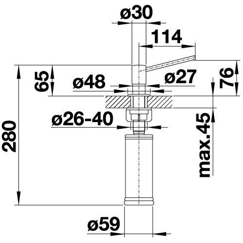 Дозатор для жидкого мыла Blanco Torre нержавеющая сталь 512594