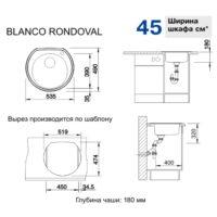 Кухонная мойка Blanco RondoVal декор 513314