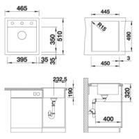 Кухонная мойка Blanco Dalago 45 антрацит 517156