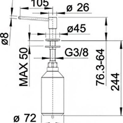 Дозатор BLANCO PIONA 517537