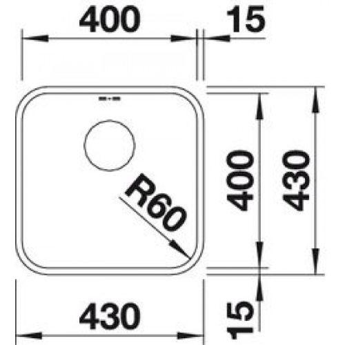 Кухонная мойка Blanco Supra 400-U без клапана-автомата 518201