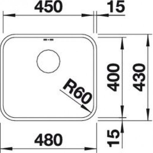 Кухонная мойка Blanco Supra 450-U c корзинчатым вентилем 518203