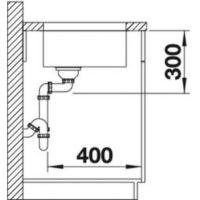 Кухонная мойка Blanco Supra 450-U c клапаном-автоматом 518204