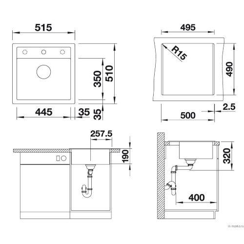 Кухонная мойка Blanco Dalago 5 алюметаллик 518522