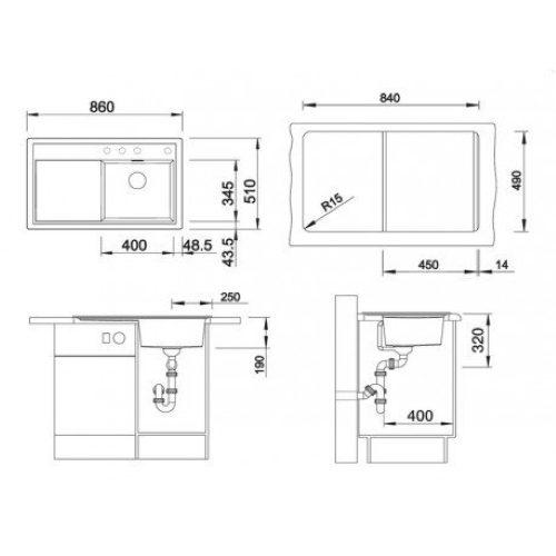 Кухонная мойка Blanco Zenar 45 S ЖЕМЧ. левая 520615