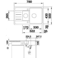 Кухонная мойка BLANCO LEGRA 6 S COMPACT 521302 антрацит
