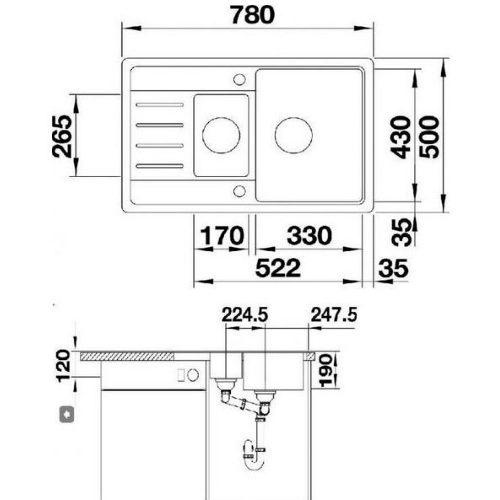 Кухонная мойка BLANCO LEGRA 6 S COMPACT 521306 шампань