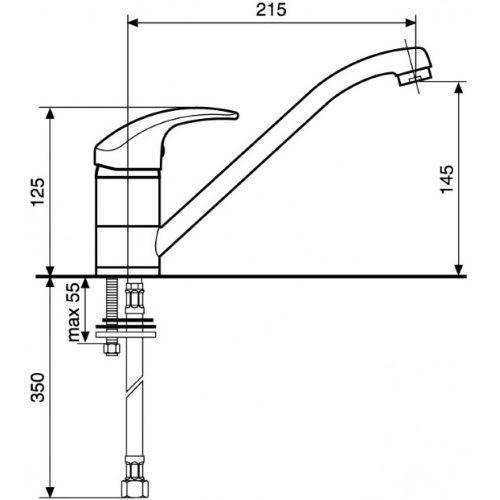 Смеситель кухонный EMMEVI Luxor GBE7007R