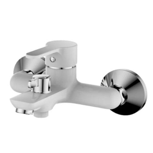 Смеситель для ванны с коротким изливом IBERGRIF SQUARE M13222W (цв. белый) IB0033