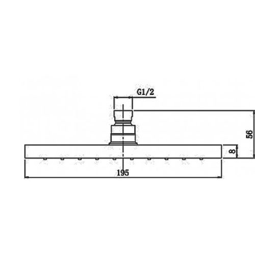 Верхний душ MIXXEN MXAN0201