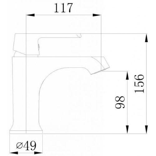 Смеситель для раковины MIXXEN Конкорд MXKL1200W