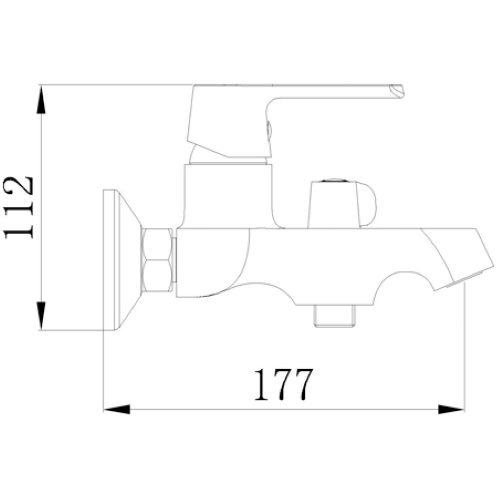 Смеситель для ванны MIXXEN Конкорд MXKL1201W